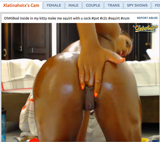 xlatinahotx – Belle camgirl latina amatrice de doigts dans le cul