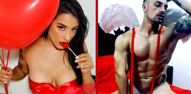 Avez-vous romantique ou épicé? Ne manquez pas les Spectacles Sexy pour la saint-Valentin sur CAM4 ♥