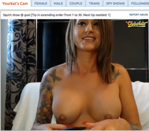 YourKat topless on chaturbate