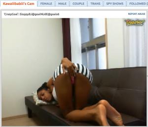 kawaiiibabiii black camgirl ass